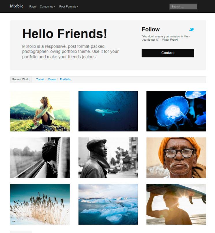 Mixfolio WordPress шаблон