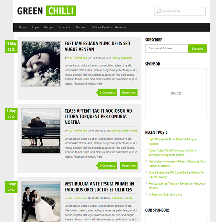 GreenChilli WordPress шаблон