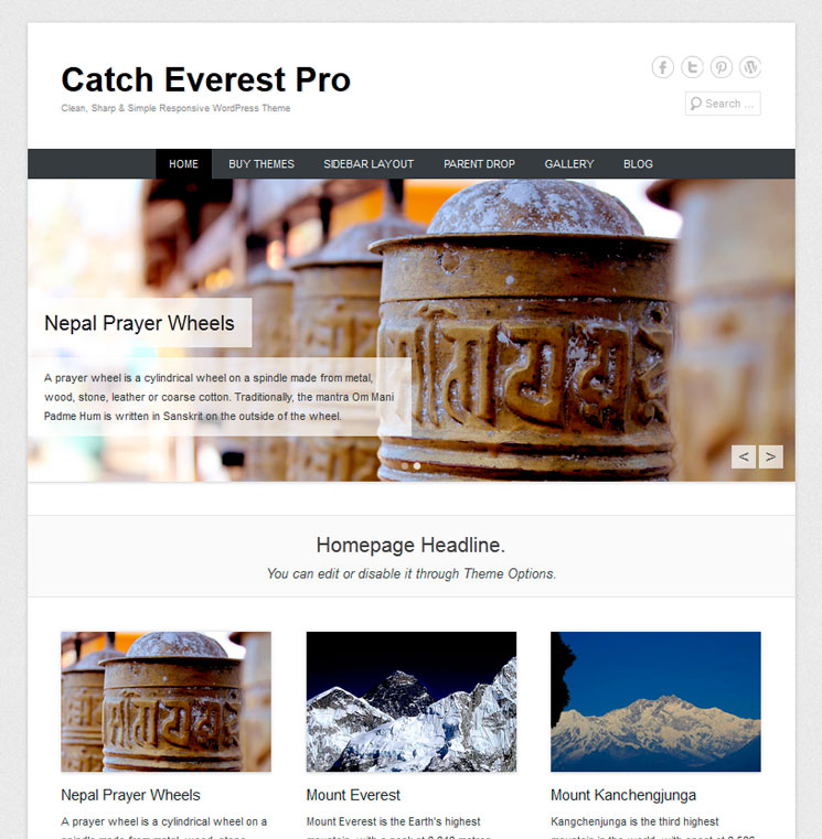 Catch Everest WordPress шаблон