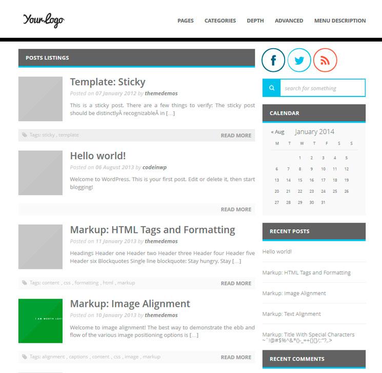 MiniMagazine WordPress шаблон
