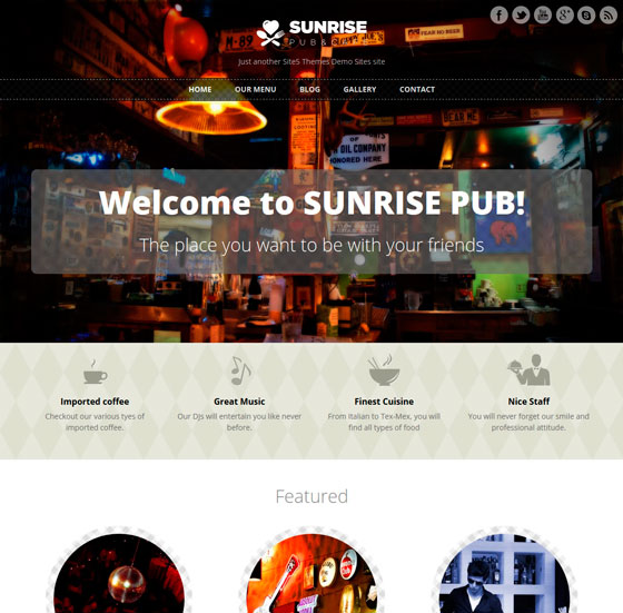 Sunrise WordPress шаблон