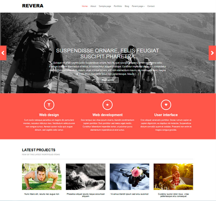 Revera WordPress шаблон