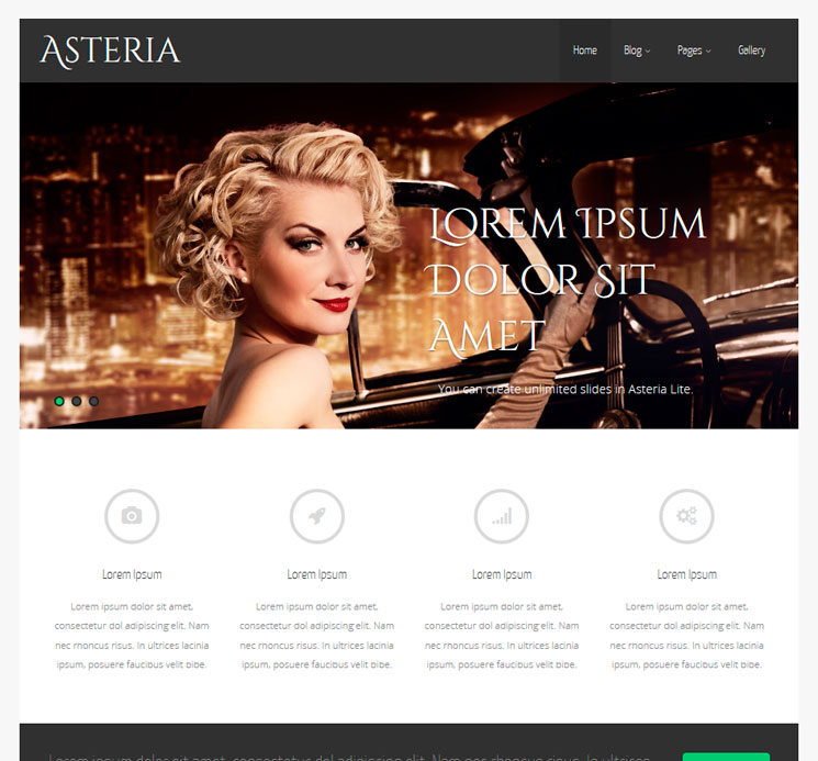 Asteria Lite WordPress шаблон