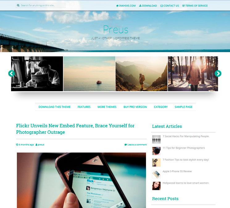 Preus WordPress шаблон