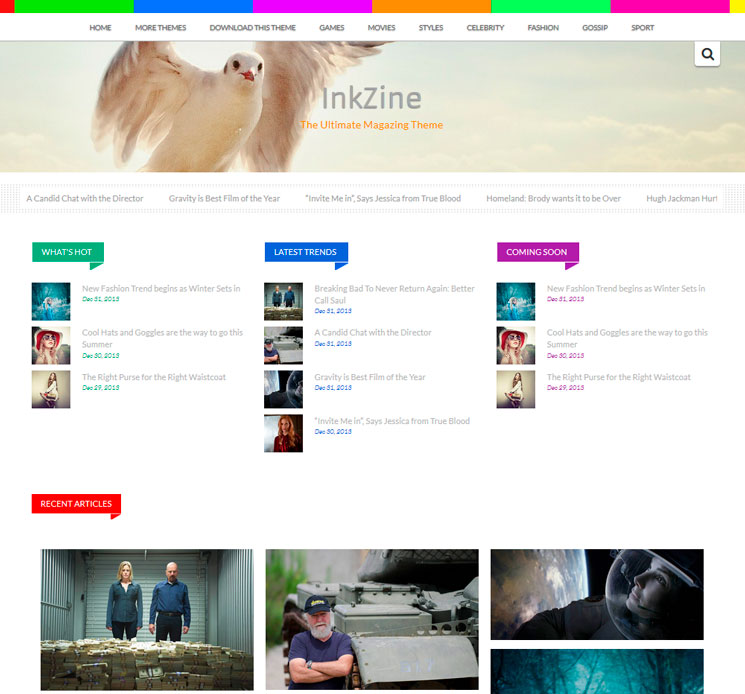 Inkzine WordPress шаблон