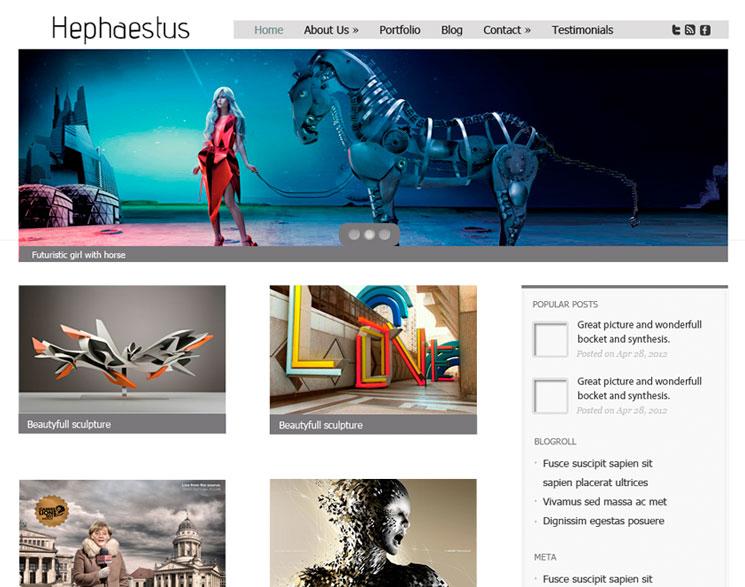Hephaestus WordPress шаблон