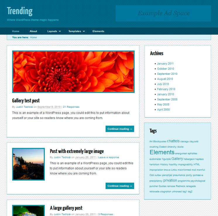 Trending WordPress шаблон
