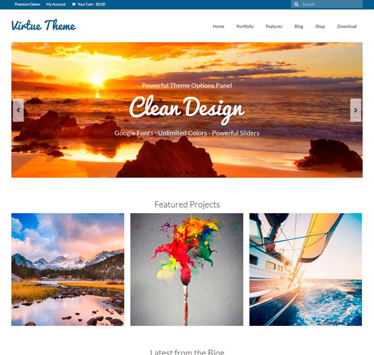 Virtue WordPress шаблон