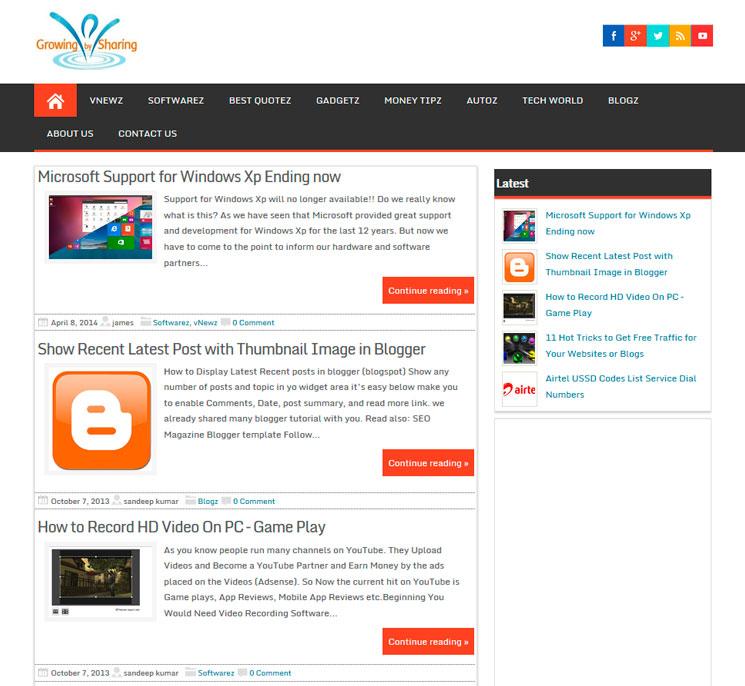 Magazine Style WordPress шаблон