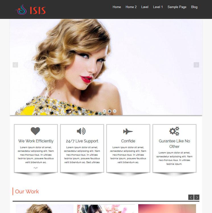 Isis WordPress шаблон