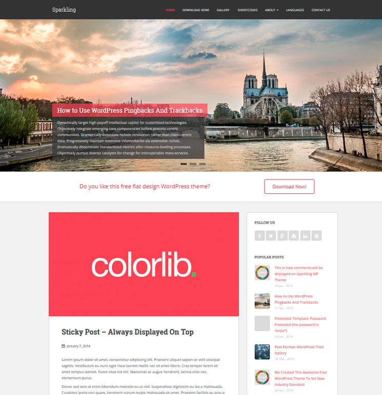 Sparkling WordPress шаблон