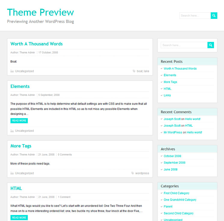 PaperCuts WordPress шаблон