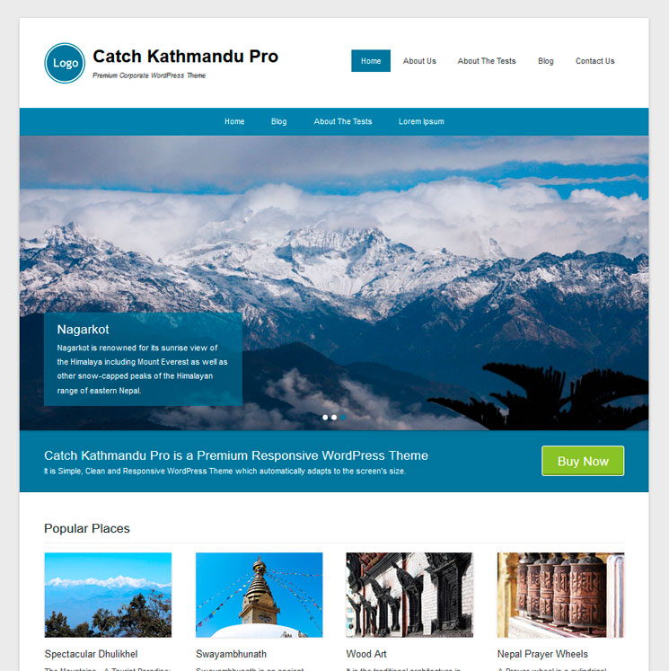 Catch Kathmandu WordPress шаблон