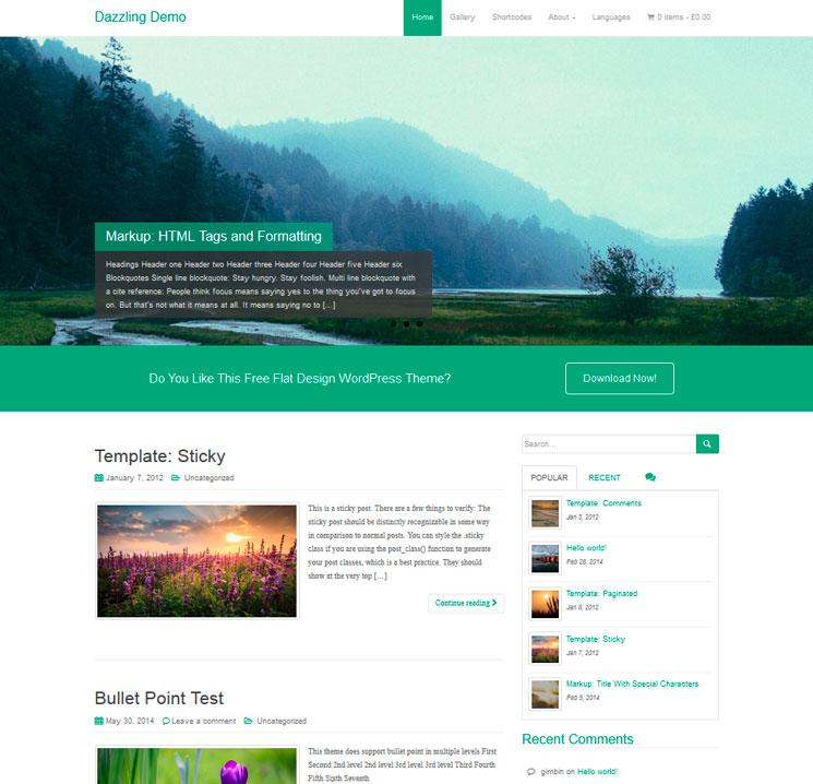 Dazzling WordPress шаблон