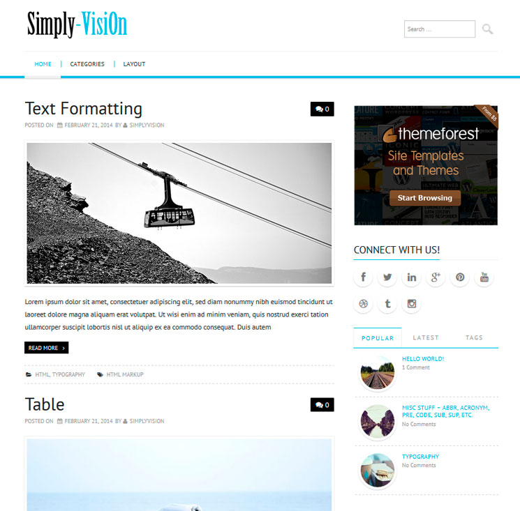 Simply VisiOn WordPress шаблон