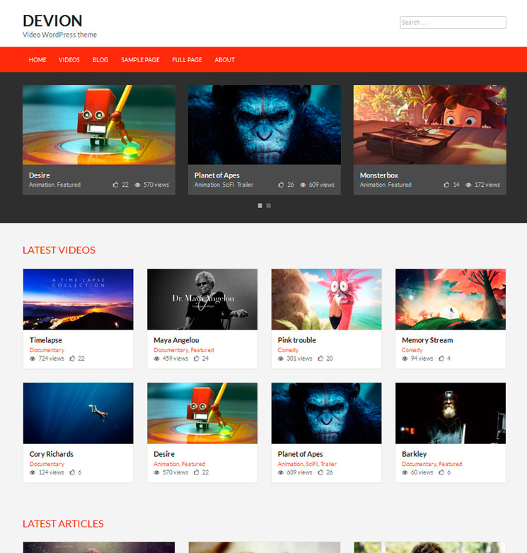 Devion WordPress шаблон