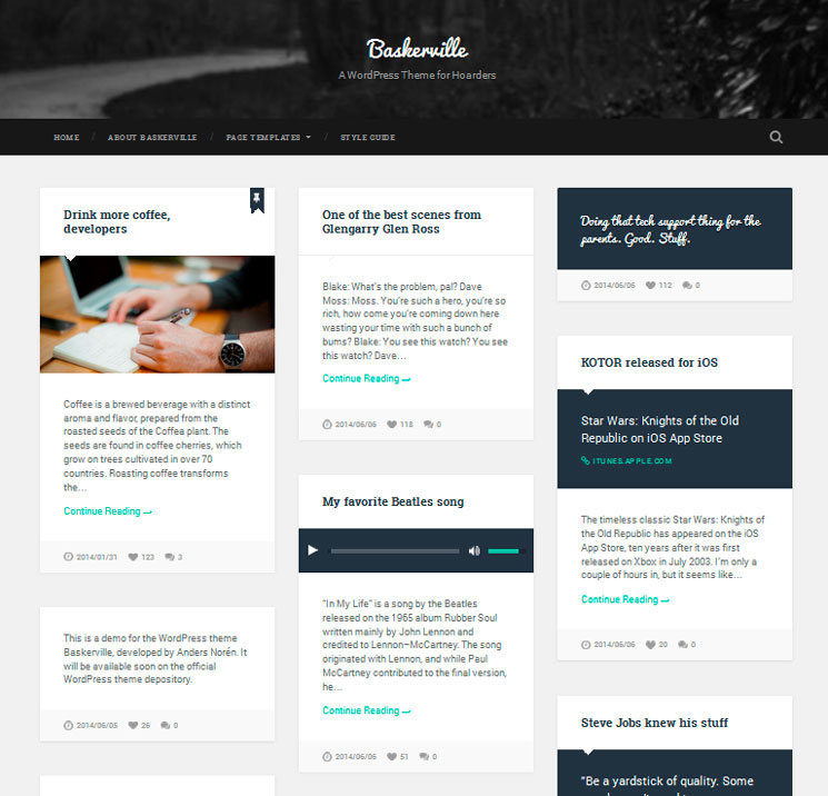 Baskerville WordPress шаблон