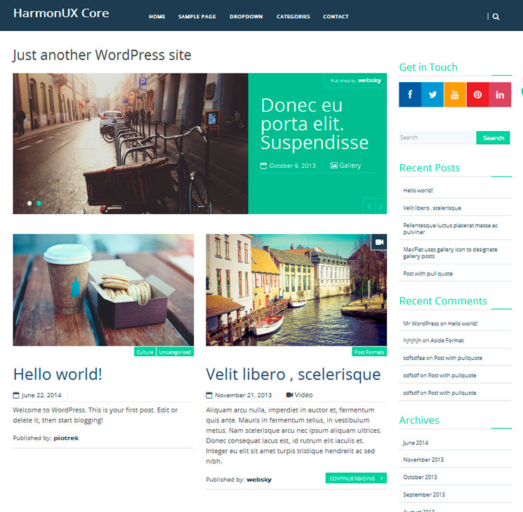 HarmonUX Core WordPress шаблон