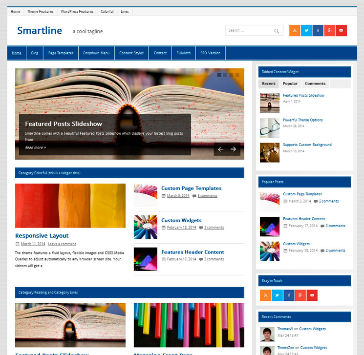 Smartline Lite WordPress шаблон