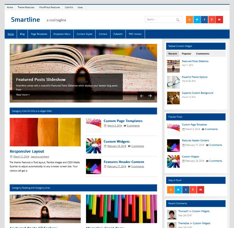 Smartline Lite WordPress шаблон