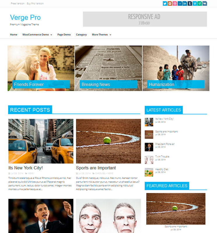 Verge WordPress шаблон