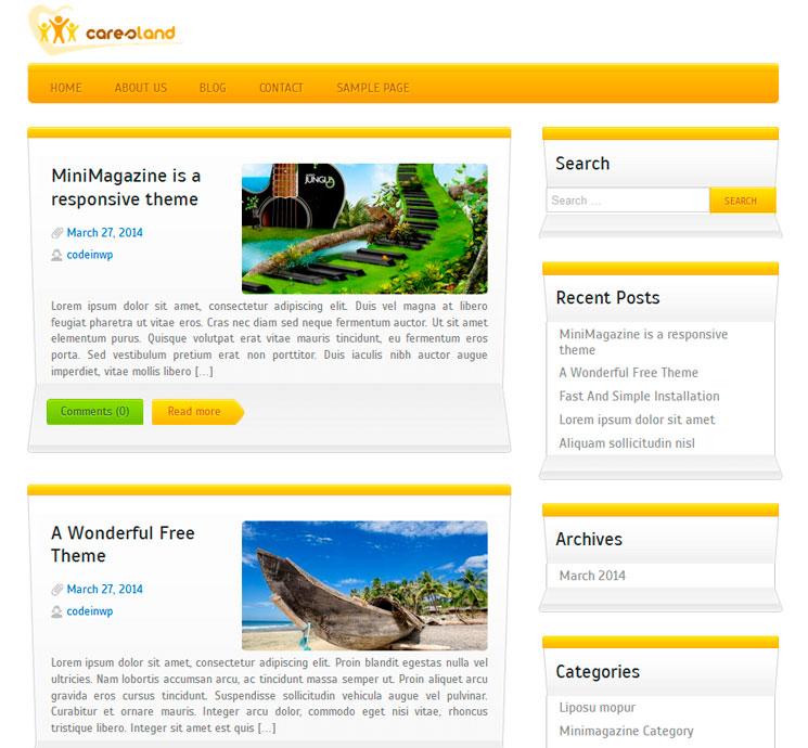 Caresland Lite WordPress шаблон