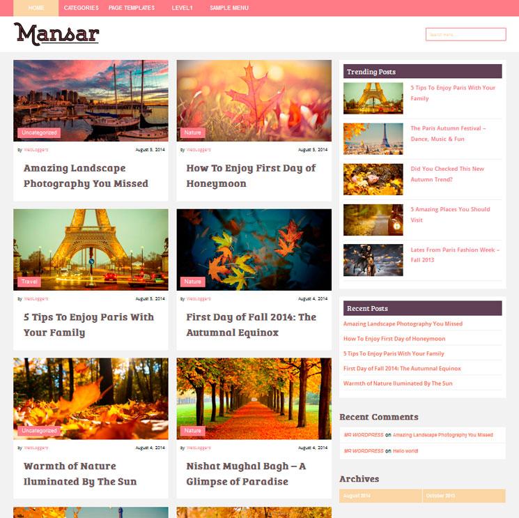 Mansar WordPress шаблон