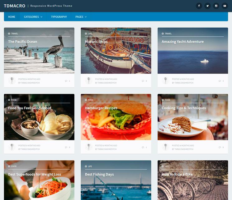 tdMacro WordPress шаблон