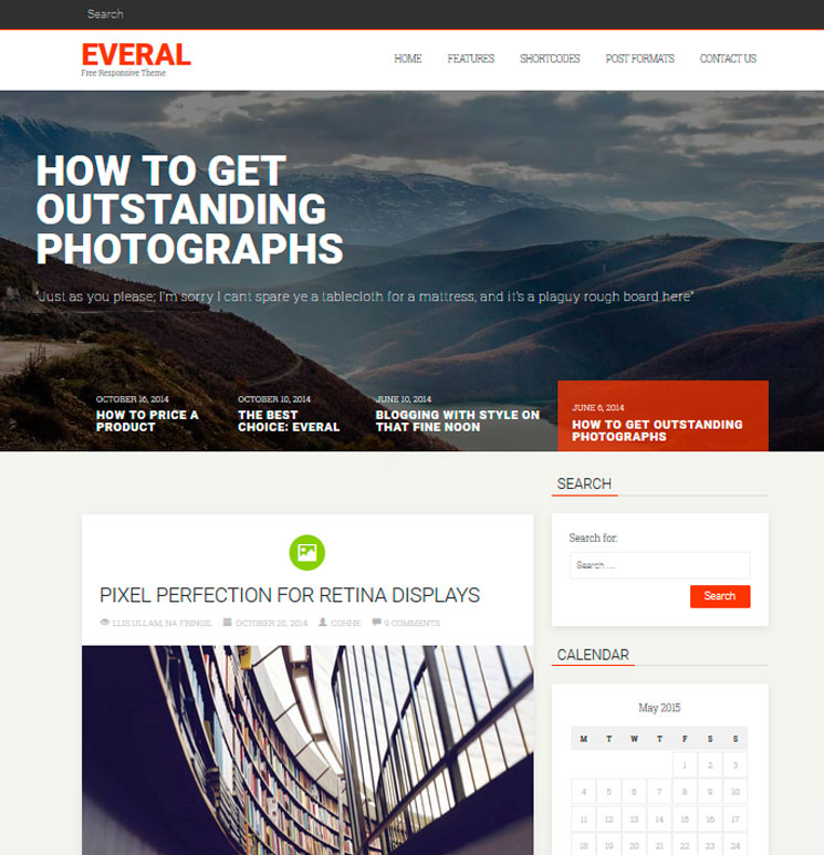 Everal WordPress шаблон