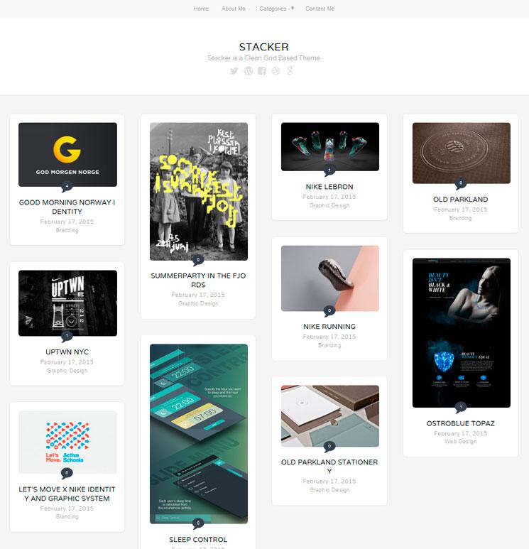 Stacker Lite WordPress шаблон