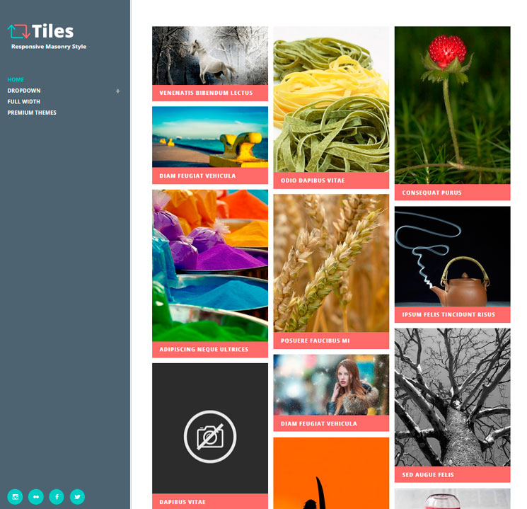 Tiles WordPress шаблон