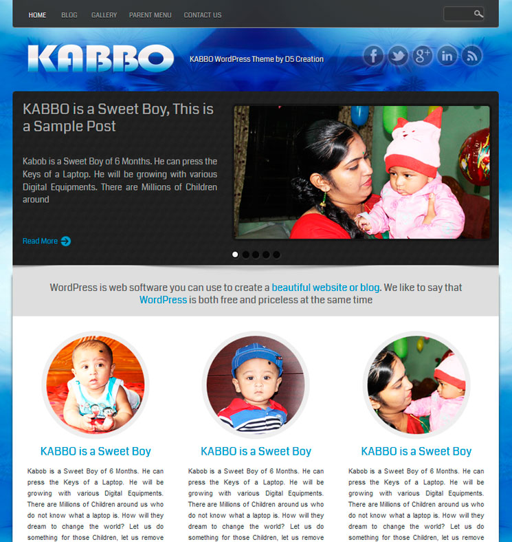 KABBO WordPress шаблон