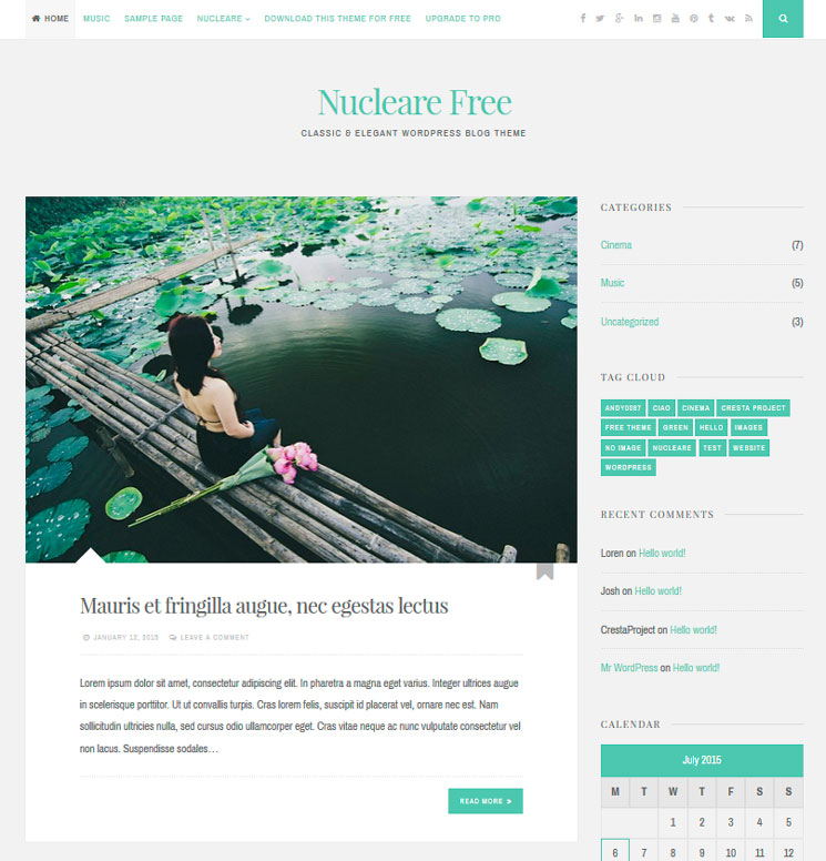 Nucleare WordPress шаблон
