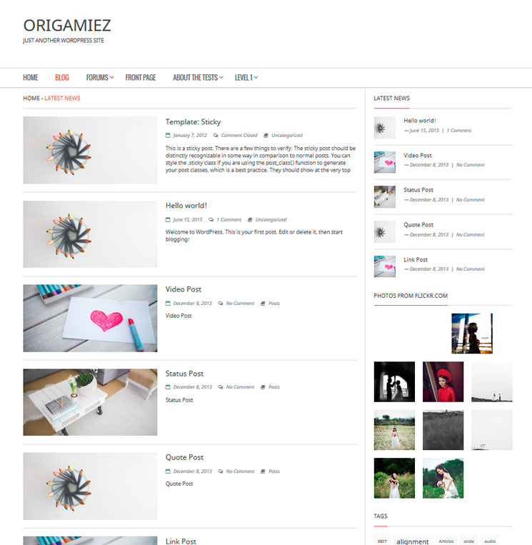 Origamiez WordPress шаблон