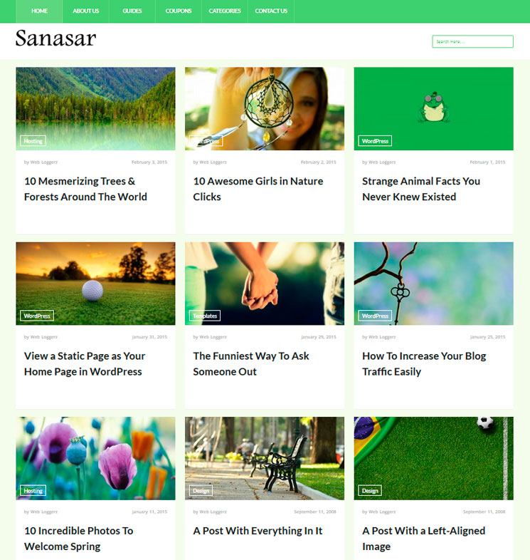 Sanasar WordPress шаблон