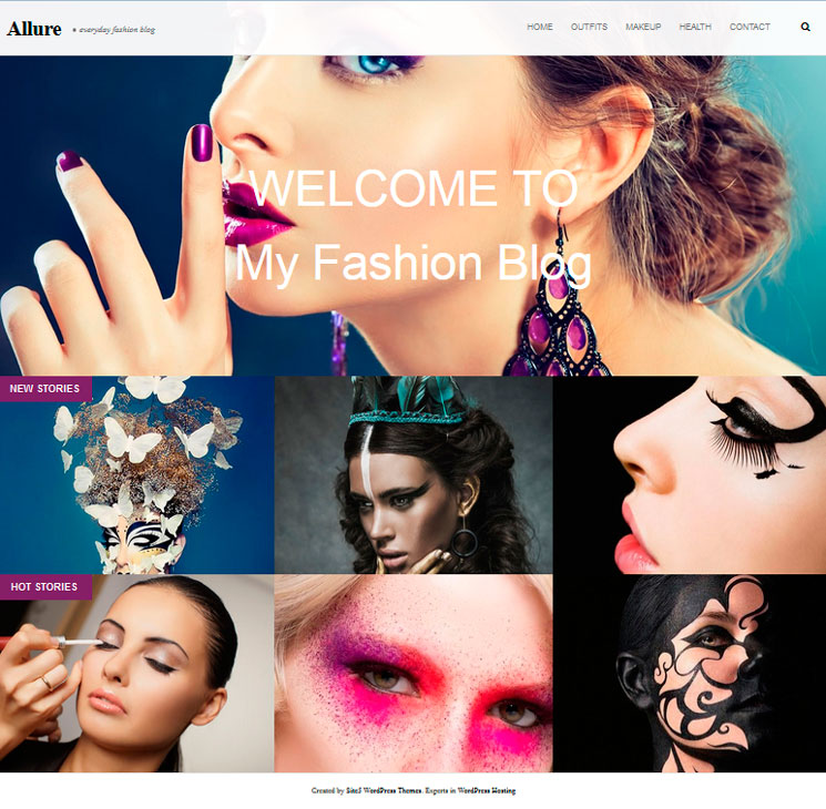 Allure WordPress шаблон