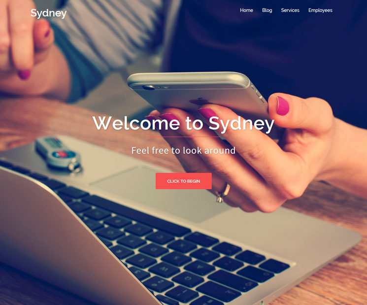 Sydney WordPress шаблон