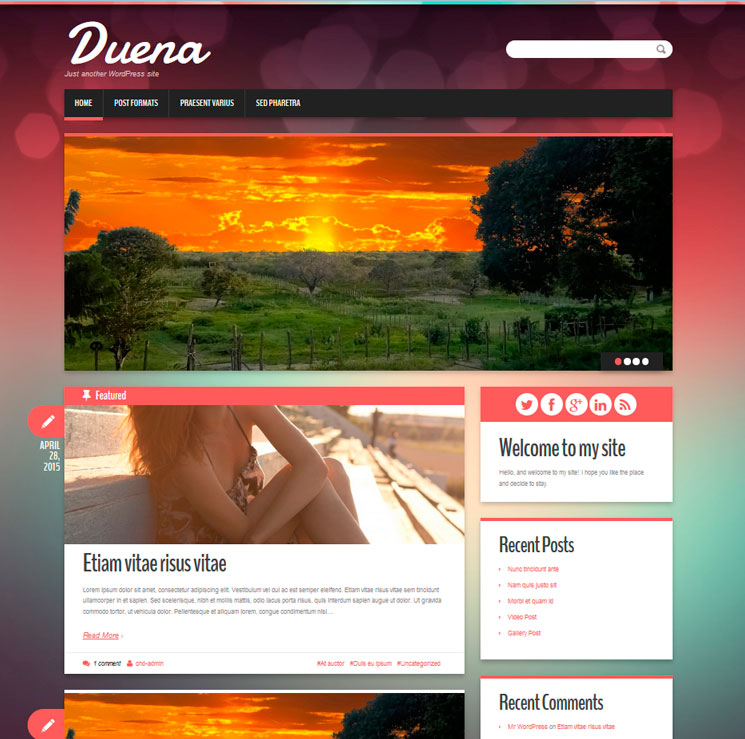 Duena WordPress шаблон