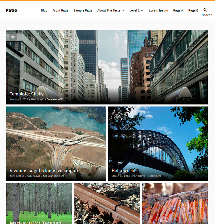 Patio WordPress шаблон