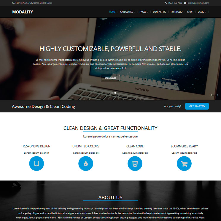 Modality WordPress шаблон