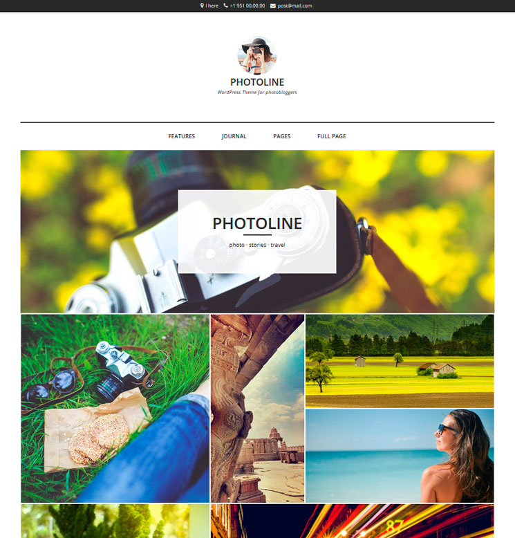 Photoline Lite WordPress шаблон