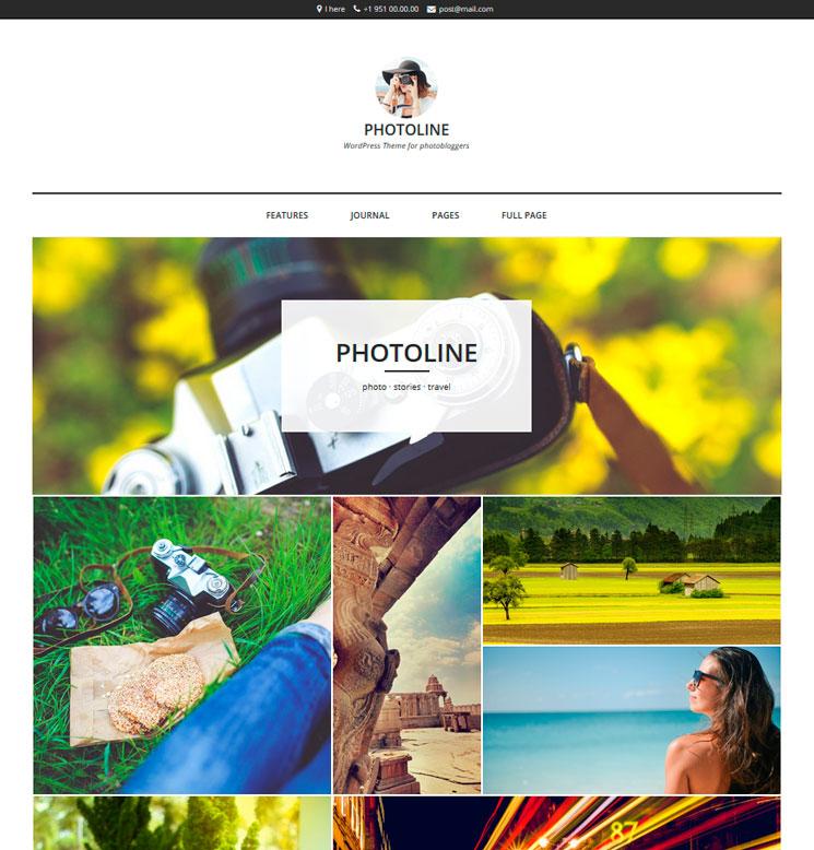 Photoline Lite WordPress шаблон