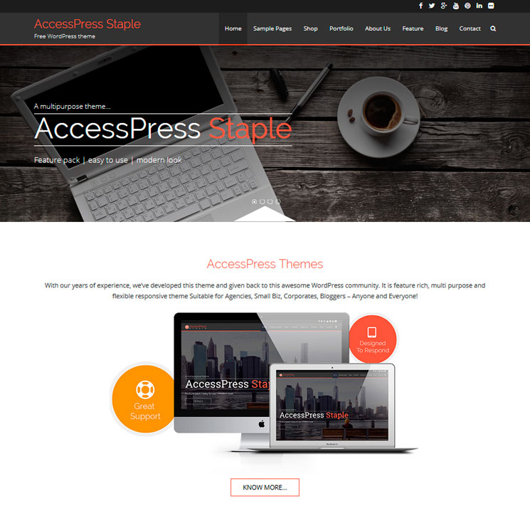 AccessPress Staple WordPress шаблон