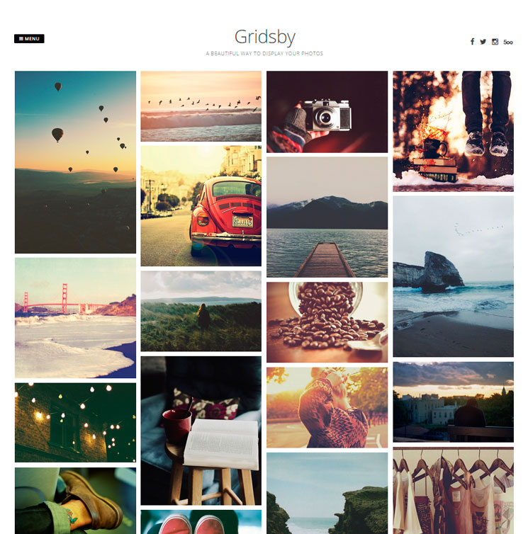 Gridsby WordPress шаблон