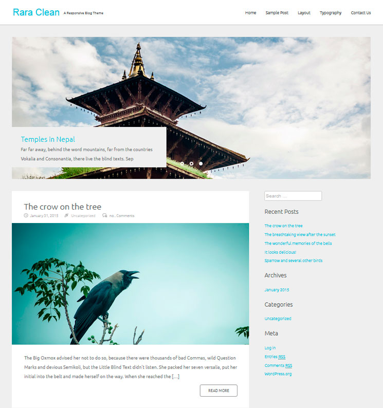 Rara Clean WordPress шаблон