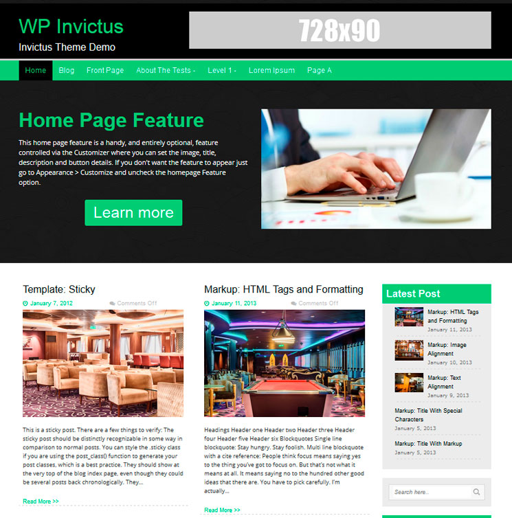 WP Invictus WordPress шаблон