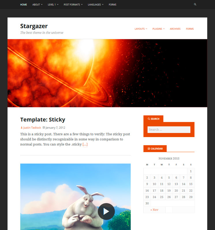 Stargazer WordPress шаблон
