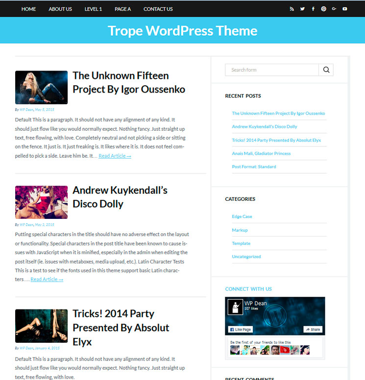 Trope WordPress шаблон