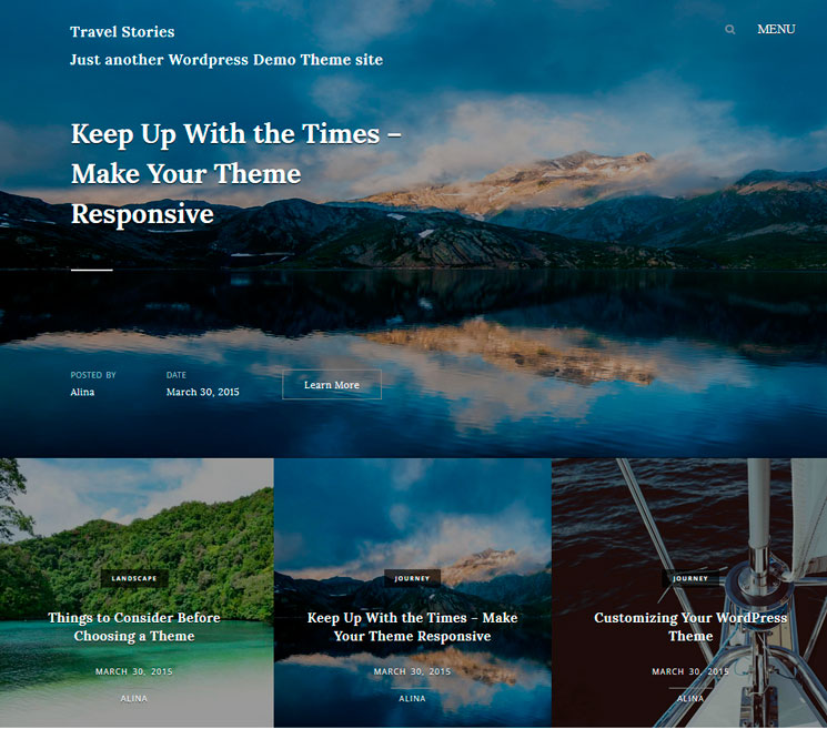 Travel Stories WordPress шаблон