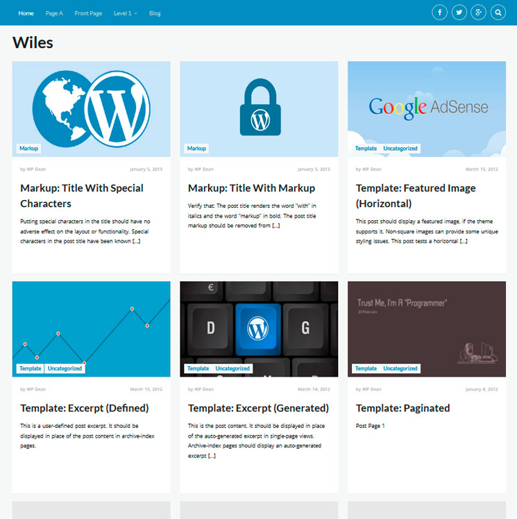 Wiles WordPress шаблон